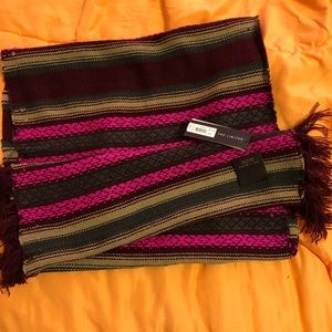 NWT limited infinity scarf with fringe